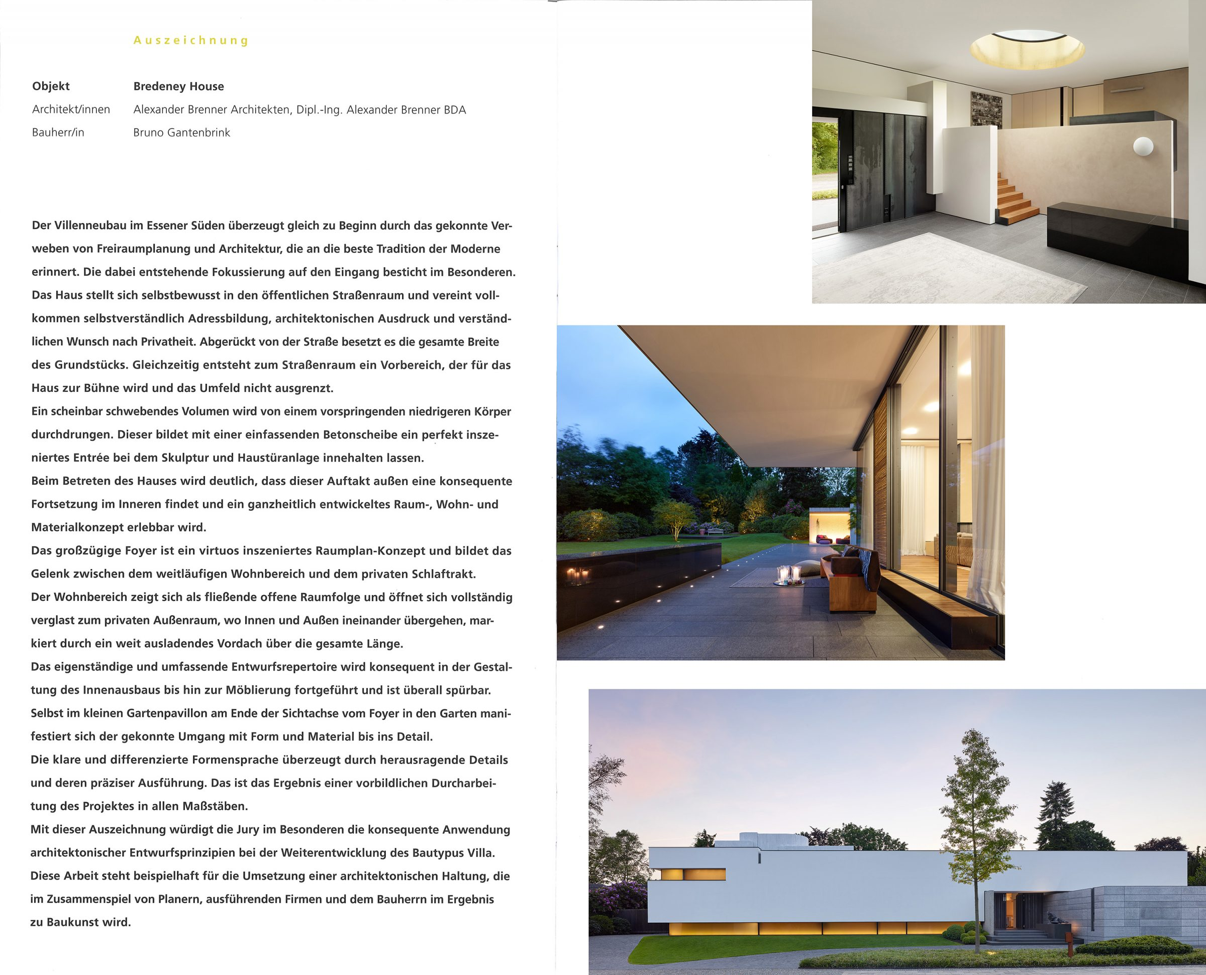 Now - Alexander Brenner Architects - Villas and Houses